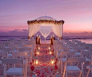 wedding, beach, and love image