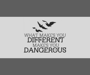 dangerous, divergente, and different image