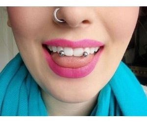 piercing and nose piercing image
