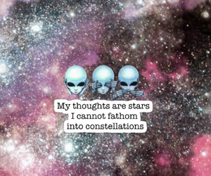 aliens, constellations, and galaxy image