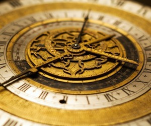 clock, watch, and gold image