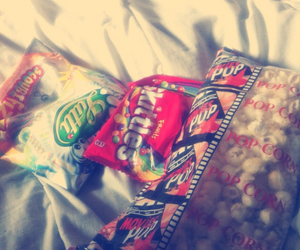 candy, Pop cOrn, and skittles image