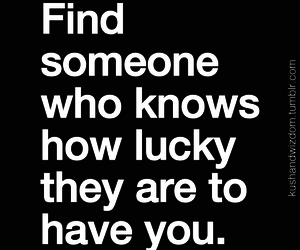 quote, love, and lucky image