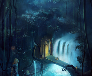 art, night, and elves image