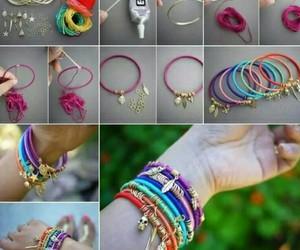 diy, bracelet, and colors image