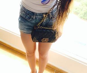 bag, shorts, and sunglasses image