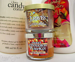 candles, autumn, and fall image