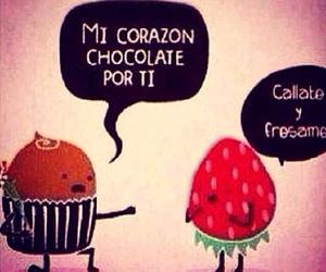 chocolate, love, and strawberry image