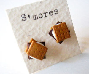 earrings, jewelry, and s'mores image