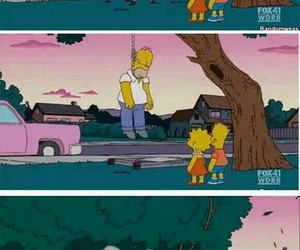 homer, suicide, and simpsons image