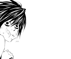 death note, anime, and L image
