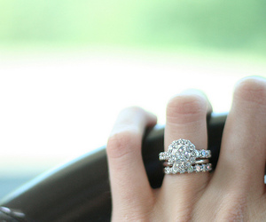 ring, diamonds, and rings image
