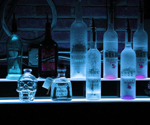 alcohol, blue, and vodka image