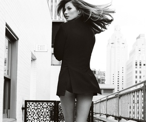 model, black and white, and legs image