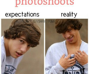 cameron dallas, funny, and photoshoots image