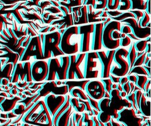arctic monkeys, black and white, and psicodelico image