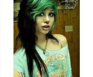 dyed hair, girl, and hair image