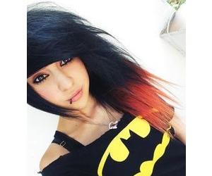 black hair, brown eyes, and dyed hair image