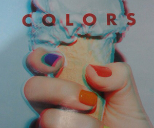 ice cream, neon, and nails image