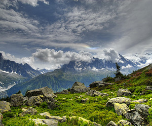 clouds, europe, and mountains image