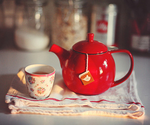 tea, red, and cup image