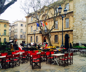 france, restaurant, and red image
