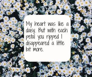 brokenheart, love, and daisy image