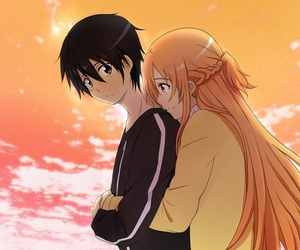 sao, kirito, and asuna image