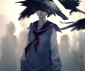 anime, art, and raven image