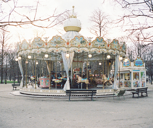 autumn, carnival, and carousel image