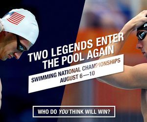 Michael Phelps, ryan lochte, and swimming image