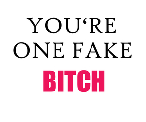 bitch, fake, and pink image
