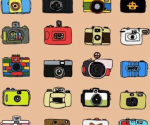 camera and background image