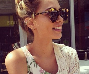 girl, sunglasses, and hipster image