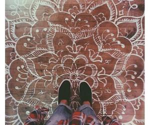 floor, mandala, and art image