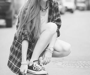 girl, skate, and hair image