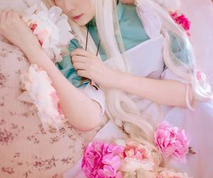 cosplay, anime, and flowers image