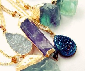 blue, crystal, and fashion image