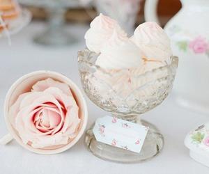 rose, food, and ice cream image