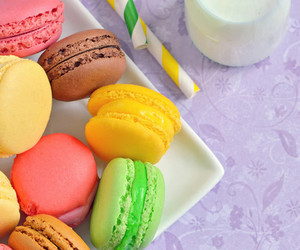macarons, sweet, and colorful image
