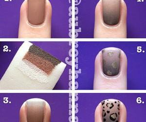diy, leopard print, and nail art image