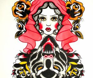red riding hood, ink it up, and rachel mccarthy image