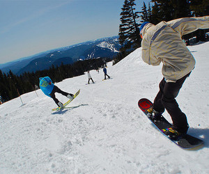 boy, snowboarding, and guy image