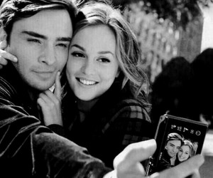 black and white, ed westwick, and leighton meester image