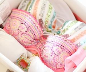 bikini, fashion, and pink image