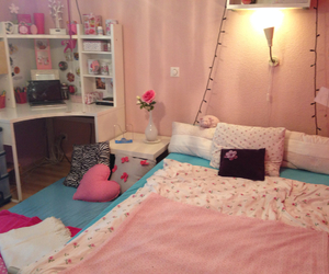 bed, bedroom, and night image