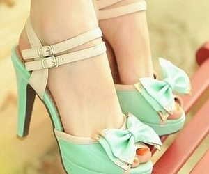 fashion, mint, and bowtie image