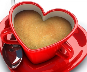 heart, red, and cup image