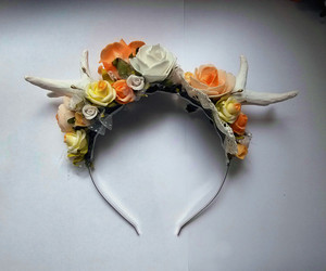 antlers and flowers image