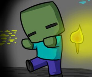 minecraft, zombie, and cute image